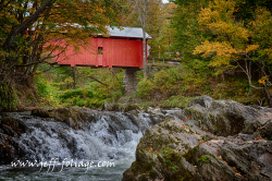 Jeff Foliage Slaughter House Bridge Northfield VT
