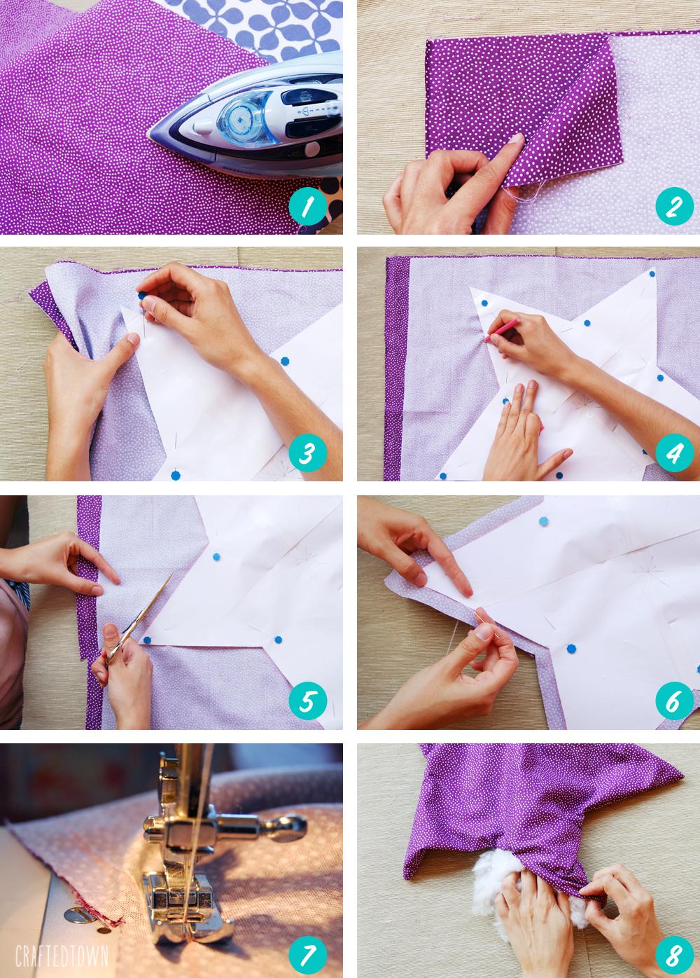 Tutorial: Cojin de estrella / Tutorial: Star pillow - Handbox Craft ...