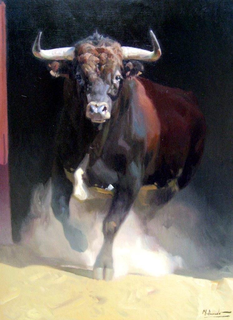Cuadros modernos pinturas comerciales toros - Cuadros de vacas ...