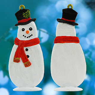 Snowman with Top Hat Christmas Decorations Mould from Prince August