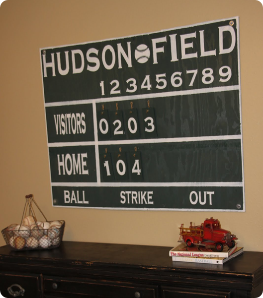 This DIY House Inspiration For Vintage Baseball And Football Boys Room