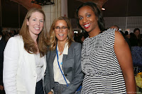 Actress Tea Leoni, NBA Commissioner David Stern, Kara Braxton #45 of the New York Liberty and the President of the WNBA, Laurel Richie pose for a picture at the 2013 WNBA Inspiring Women's Luncheon in New York City