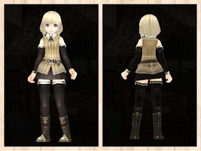 冒険者の服・白3・軽量化