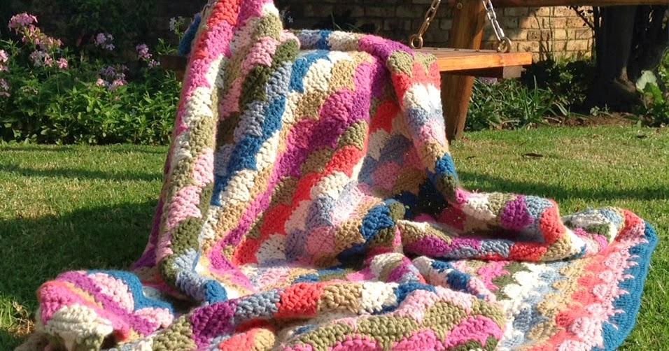 Stitch By Stitch Clamshell Crochet Blanket