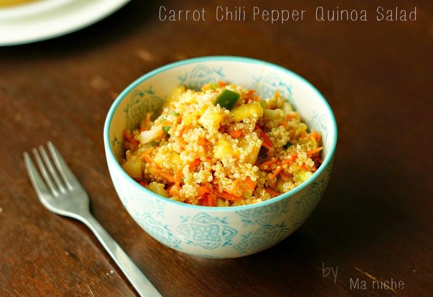 carrot chili pepper quinoa salad