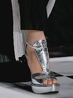 Метални сандали на платформа Viktor & Rolf