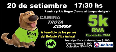 5k a beneficio del refugio Vida animal (rambla Sur, 20/sep/2014)