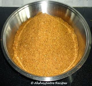 coarsely ground masala powder