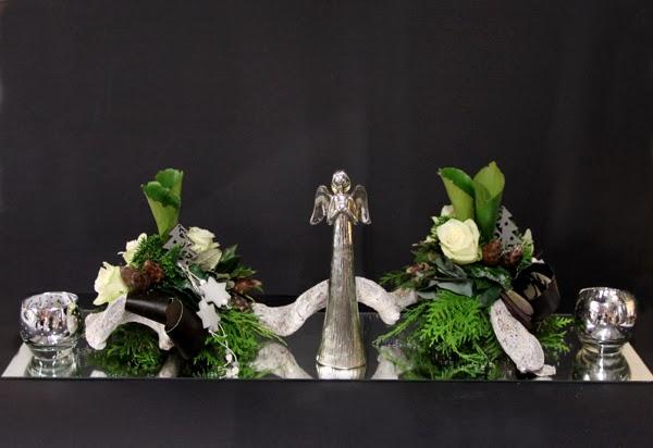 Bloemschikken Advent & Kerst - 5. Spiegelstuk wit