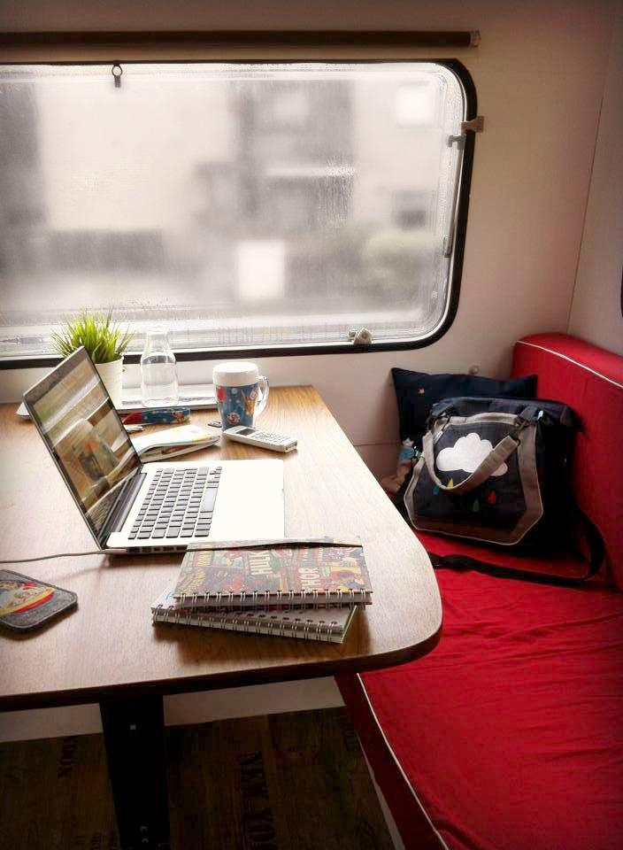 Arbeitsplatz, Caravan Makeover, Tabbert TN4500, Wohnwagen