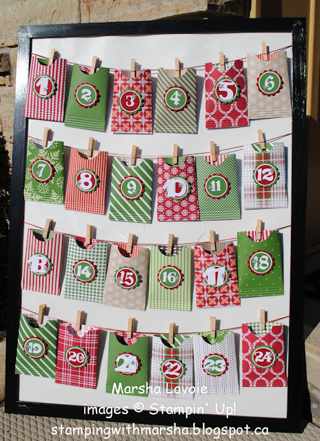 advent calendar stampin up