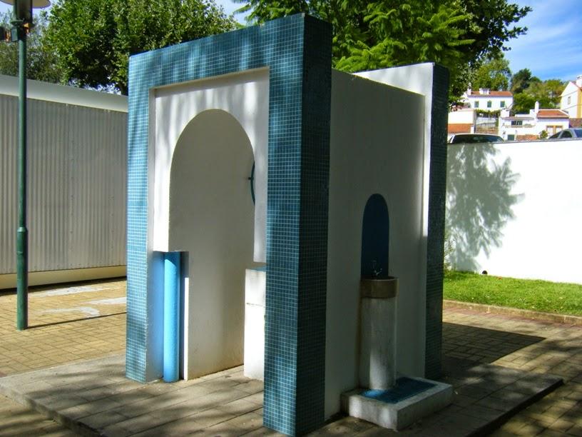 Local para beber água no parque de Merendas