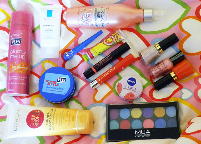 June 2013 Beauty Favorites | VO5, L'Oreal, Revlon, Sally Hansen, Barry M, La Roche-Posay, Gigs & Rogue, MUA, Nivea, Soap & Glory