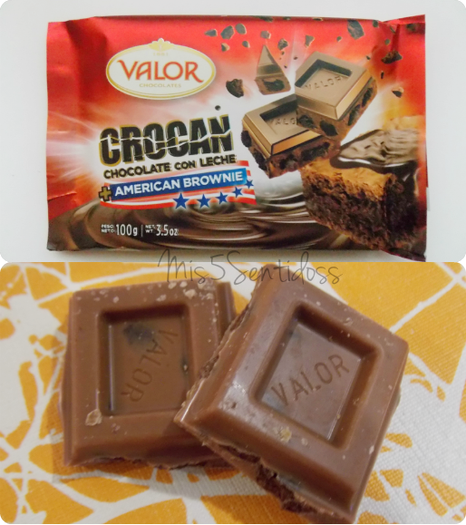 Degustabox Valor  Crocan chocolate con leche + American Brownie