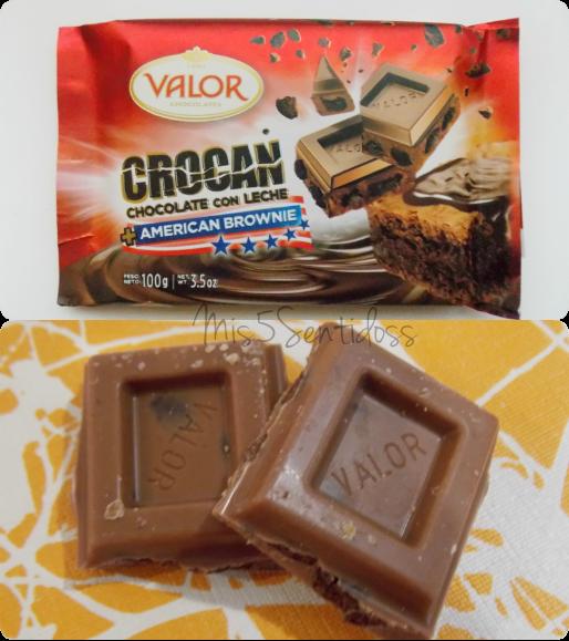 Degustabox Valor  Crocan chocolate con leche + American Brownie