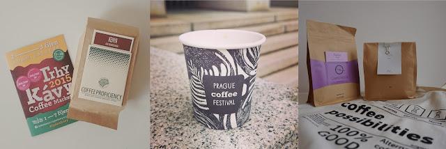 Kávy nakoupené na Týdnu kávy a Prague Coffee Festivalu