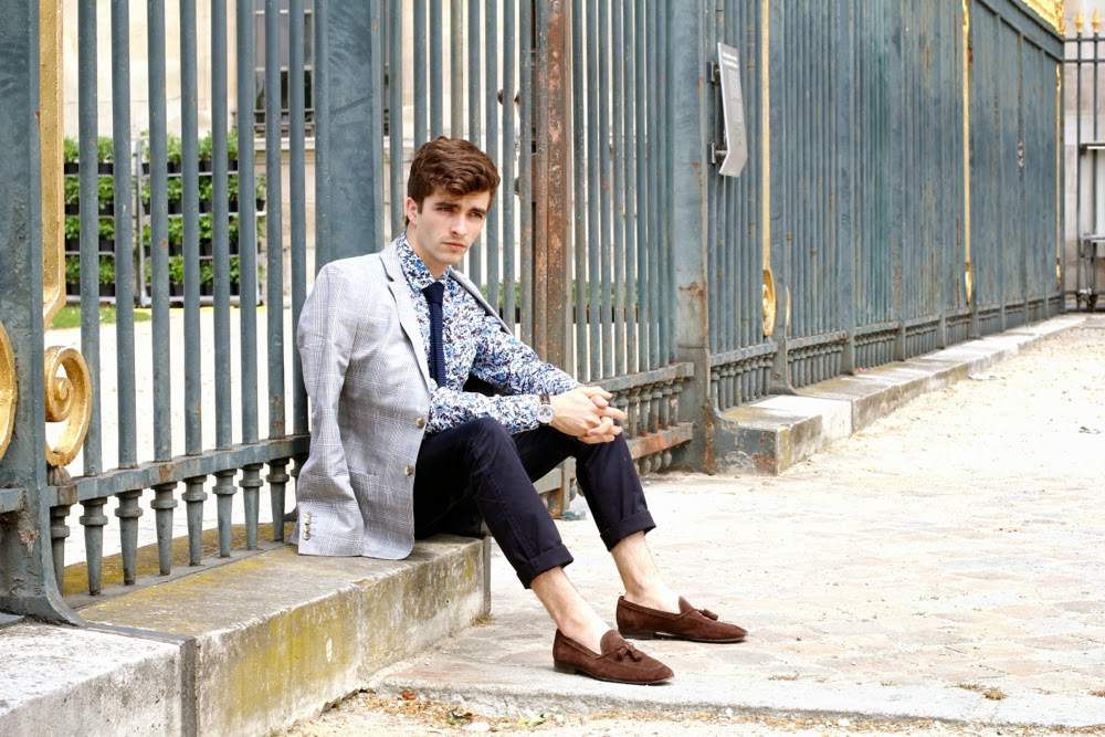 BLOG-MODE-HOMME-PREPPY_Flannels-for-heroes-Dockers_DockersONtheGo-Garden-Party-Chelsea-Paris_Chino_Prince-de-Galles_Mensfashion1