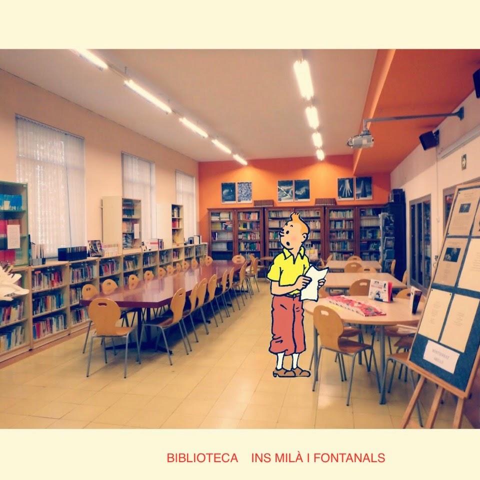 Tintin visita la biblio del Milà