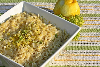 orzo, lemon orzo, thyme, side dish, light side dish, healthy dinner, healthy side dish