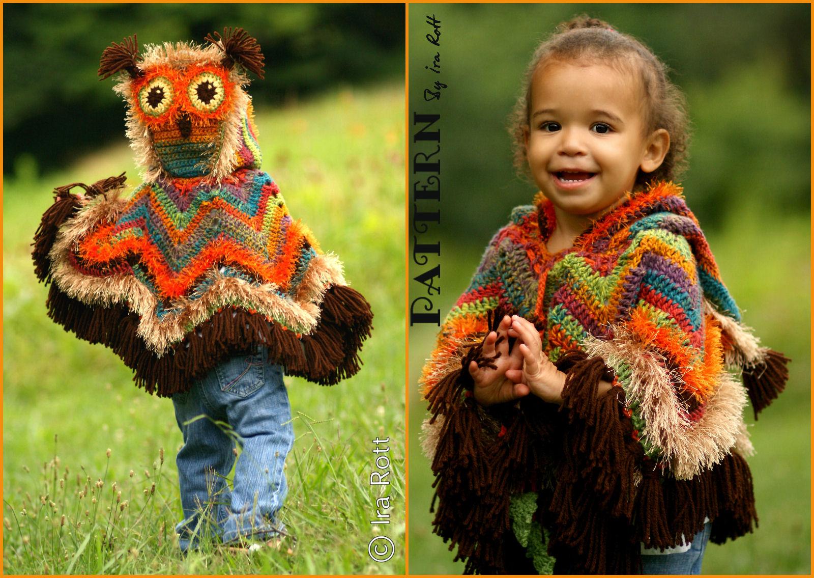 Fashion Crochet Design By Ira Rott: Acorn Owl Poncho