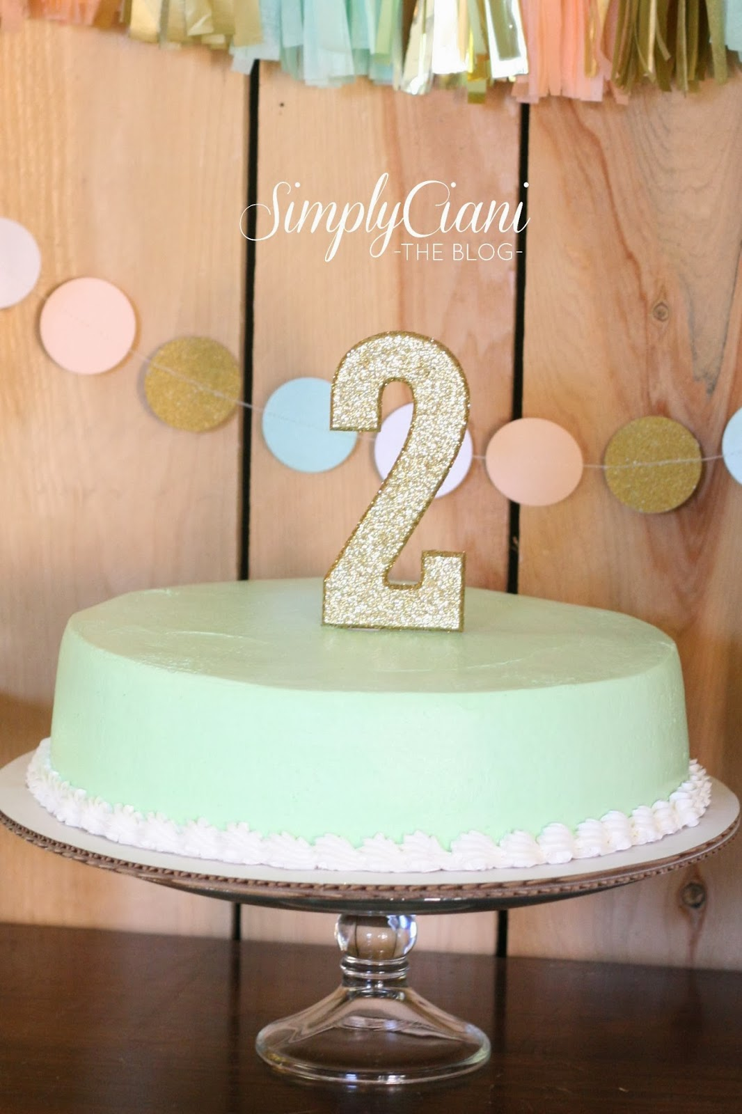 Peach Mint Gold Farm Fresh Birthday Party Simply Ciani