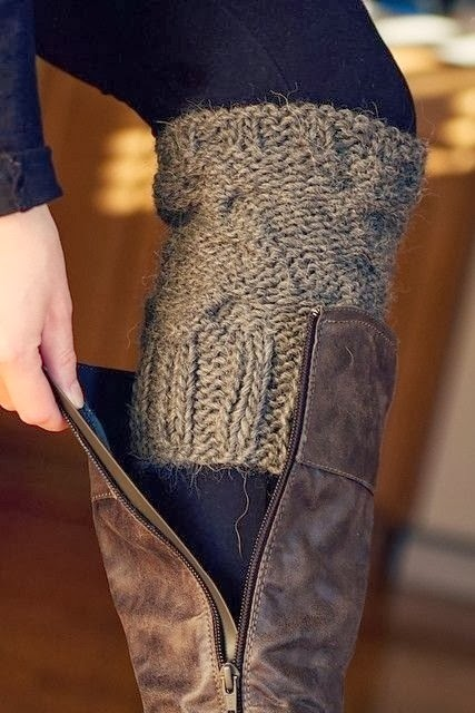 Adorable grey sleeve sock style for fall