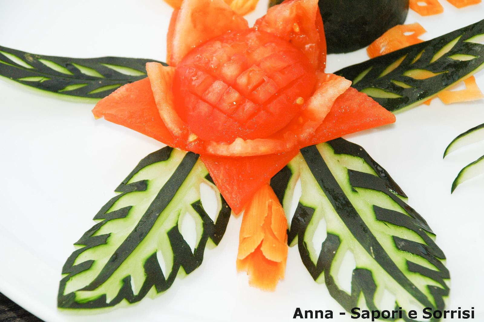 Anna sapori e sorrisi decorazioni piatti con verdura - Piatti di frutta decorati ...