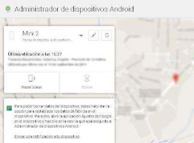 Sistema de Google para localizar nuestros dispositivos