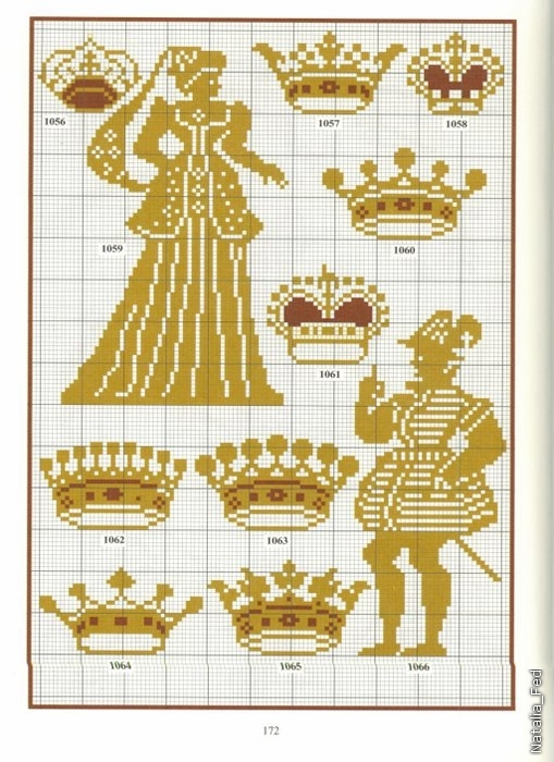 Вышивка крестом корона