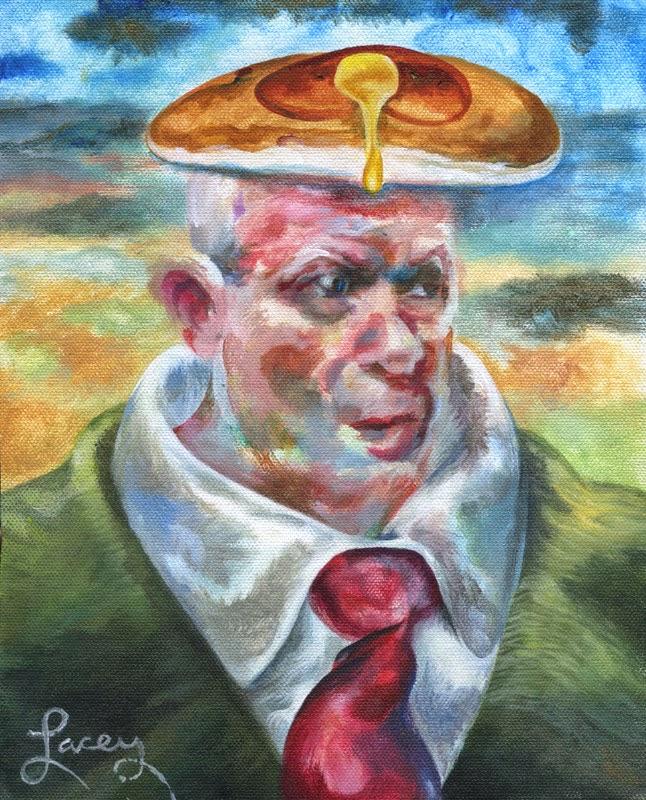 Dan Lacey, The Painter Of Pancakes: Alex Jones Human Slug