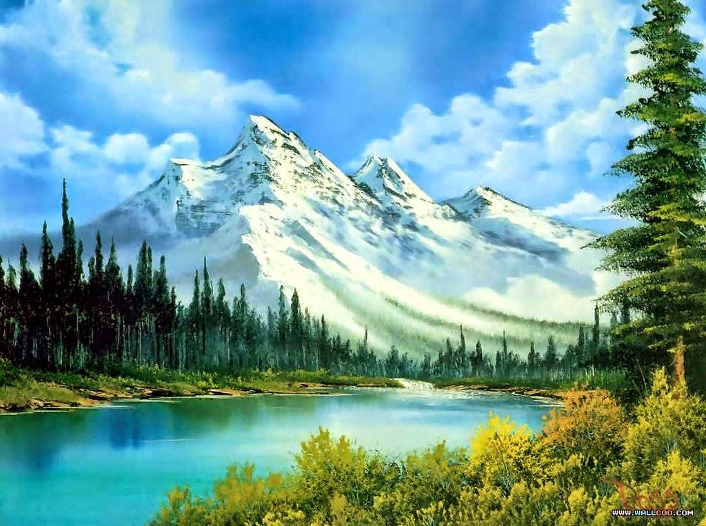 Cuadros modernos pinturas y dibujos los mejores paisajes de bob ross 1942 1995 - Como pintar cuadros faciles ...