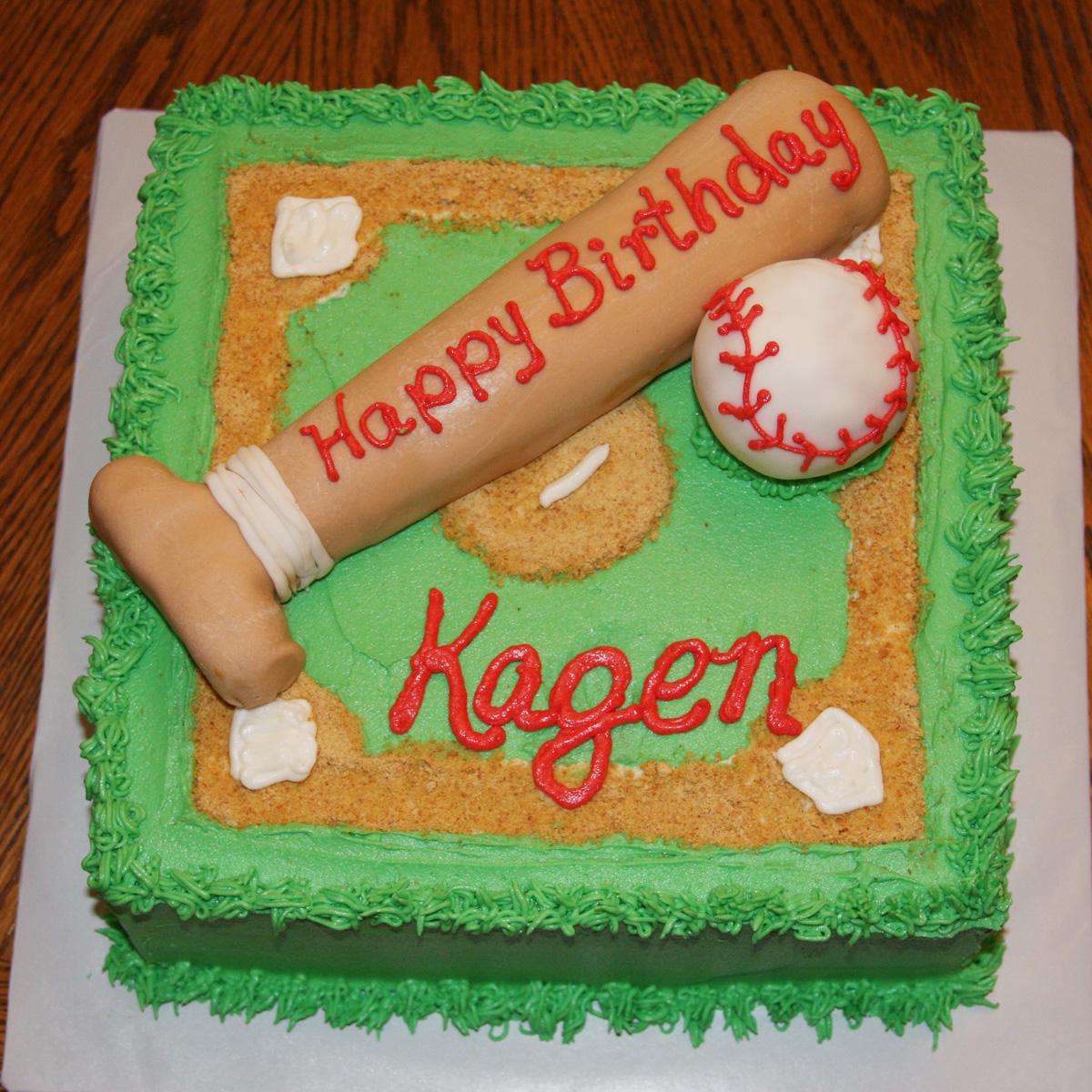 Carlas Cakes Baseball Birthday Cake