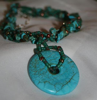 Aztec Dream necklace - turquoise, Czech glass :: All the Pretty Things