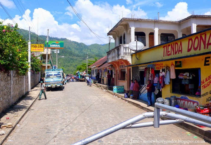 the local town in Semuc Champey (from the back of a pickup truck)