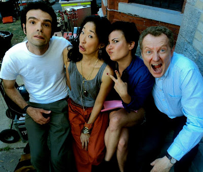 sandra oh, michael tuesdays and thursdays, on the set, behind the scenes