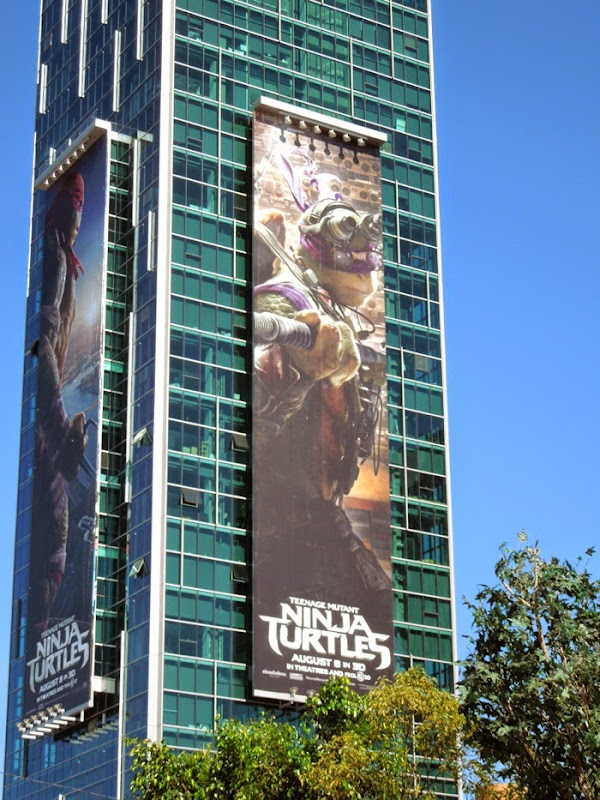 Giant Donatello Ninja Turtles movie billboard