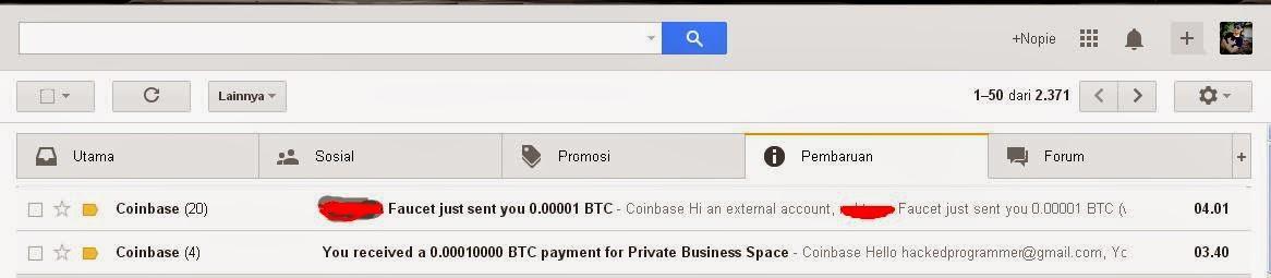 Private Business Bitcoin: Bitcoin faucet