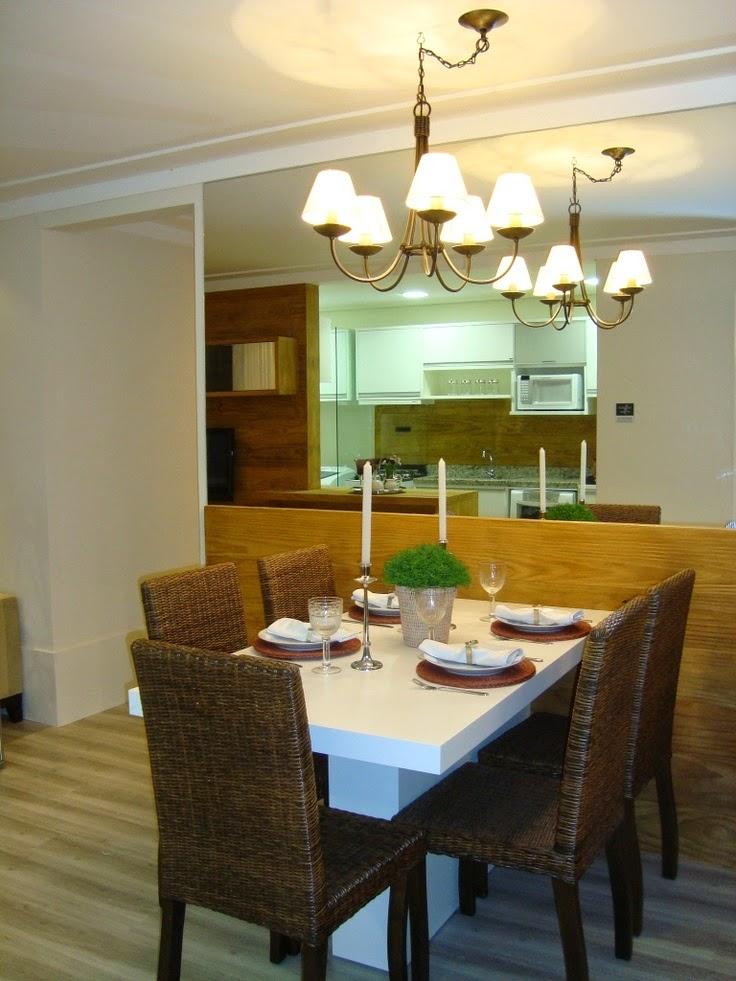 20 Salas de jantar pequenas!! Jeito de Casa Blog de Decoraç u00e3o e Arquitetura # Decoração De Sala De Jantar Pequena Com Espelho