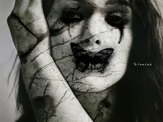 Silenced Gothic Girl Dark Gothic Wallpaper