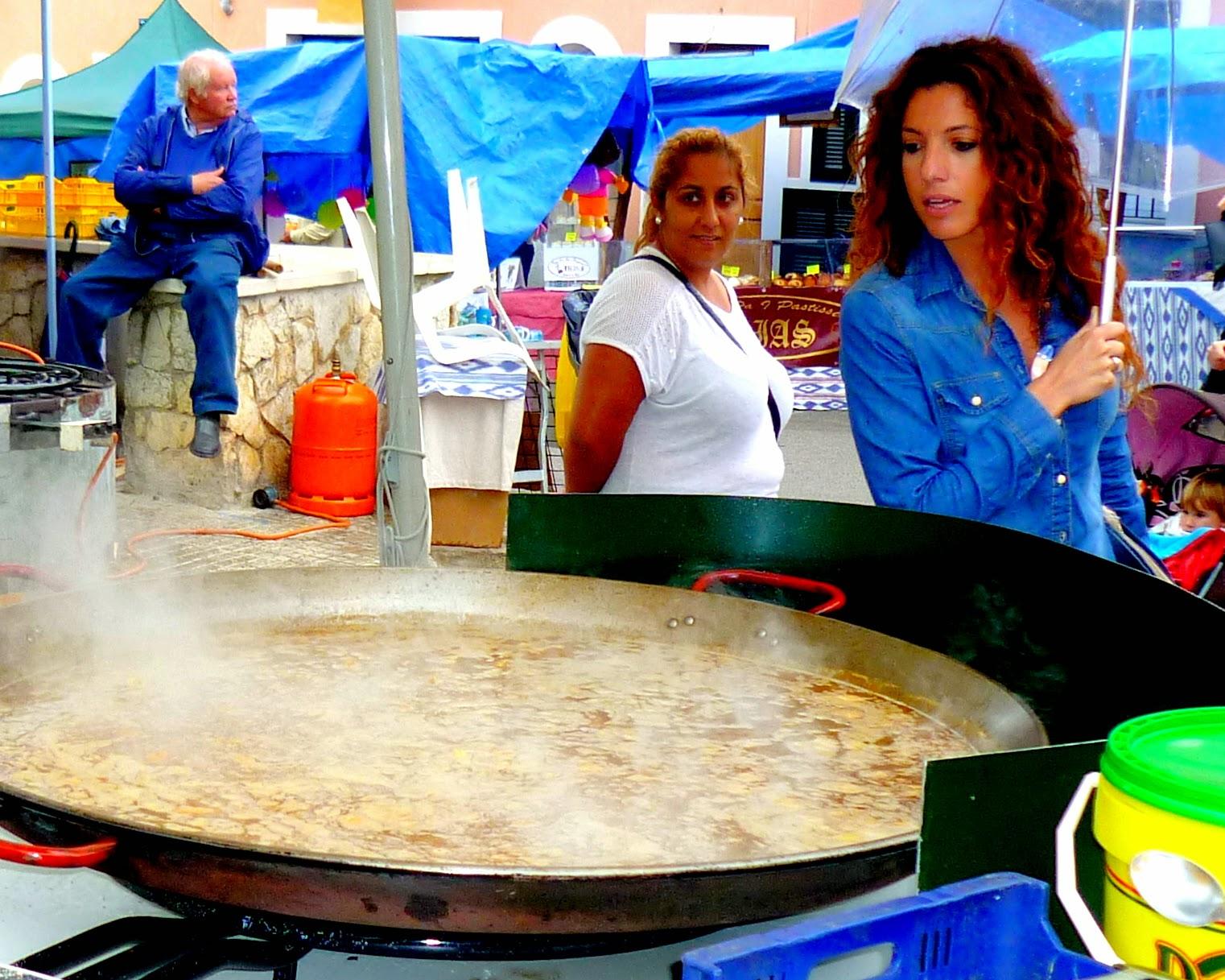 paella bogavante caracoles