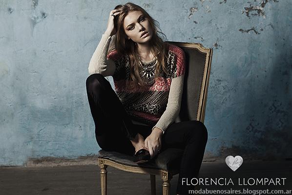 Moda otoño invierno 2014 Florencia Llompart tejidos invierno 2014.