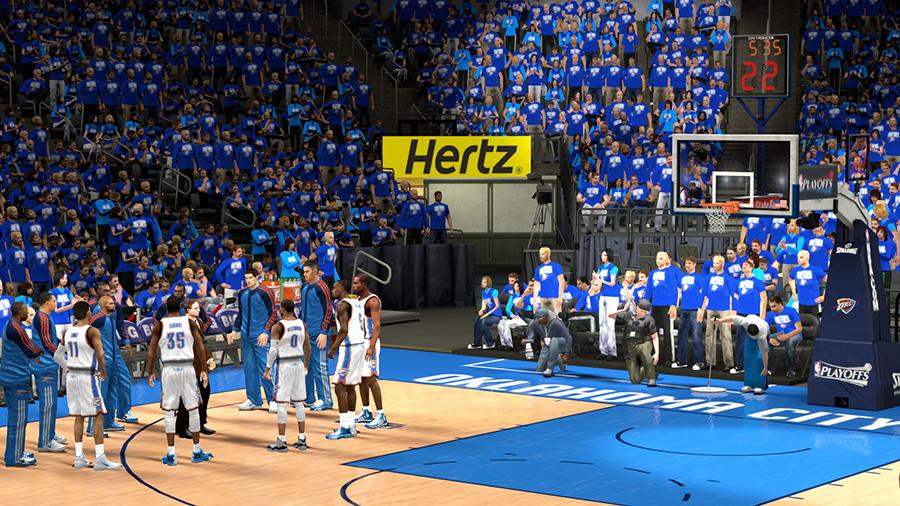 NBA 2K14 OKC Thunder Playoffs Crowd Patch
