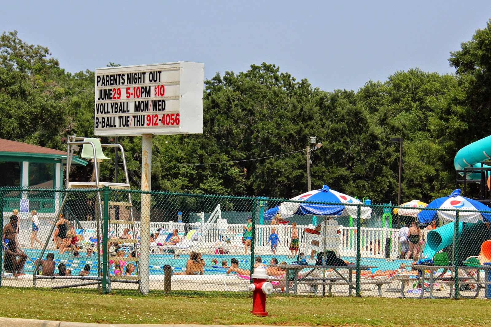 Hot summer day at Roger Scott Pool~ Pensacola, FL