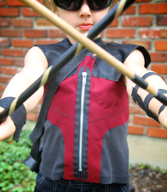 Life Sprinkled With Glitter: The Avengers Homemade Hawkeye Costume