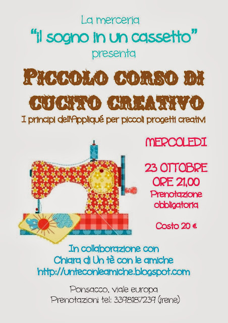 workshop cucito creativo shabby chic