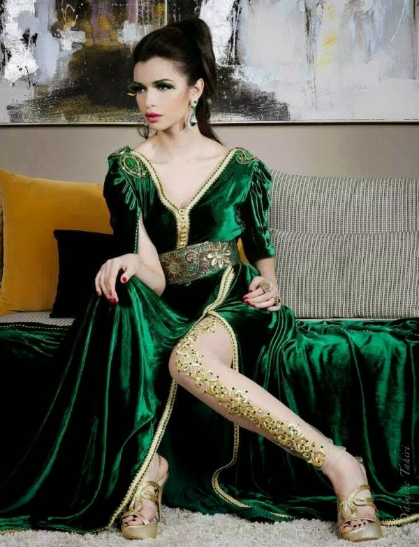 Model de robe de soiree marocaine