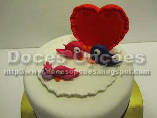 bolo passarinhos