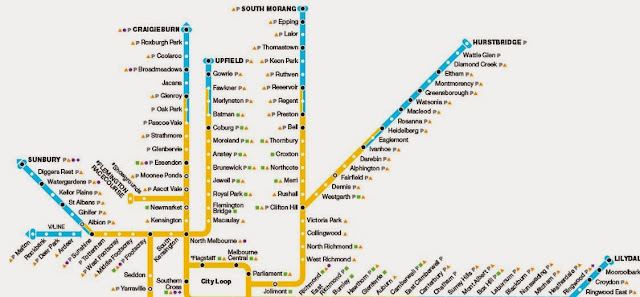 Melbourne Train Line Map