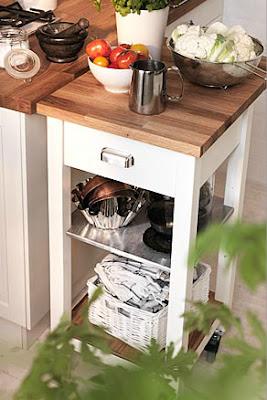 Entre barrancos decoraci n peque a cocina con muebles for Carrito cocina ikea