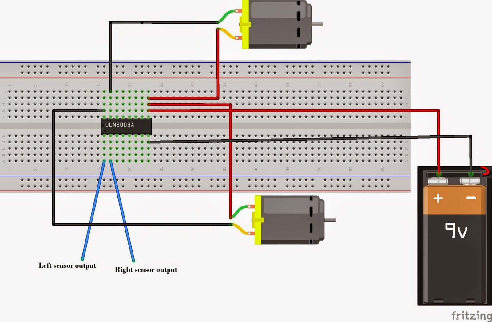 A Simple Line Following Robot Without Microcontroller Make